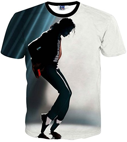 CHIC Clothing Men/Women T shirt print Michael Jackson 3D T-Shirt, X-Large