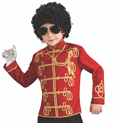 Michael Jackson Child's Value Military Jacket Costume Accessory, Large, Red